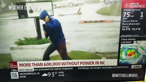 weather channel reporter Hurricane-Florence