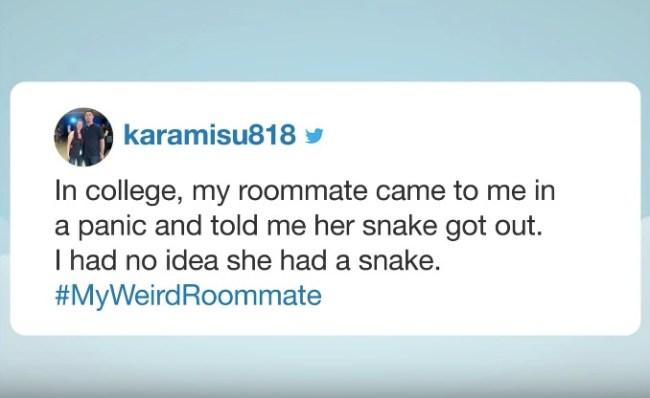 weird roommate stories