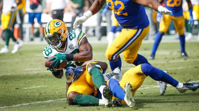 Aaron Rodgers Ty Montgomery Fumble Fans