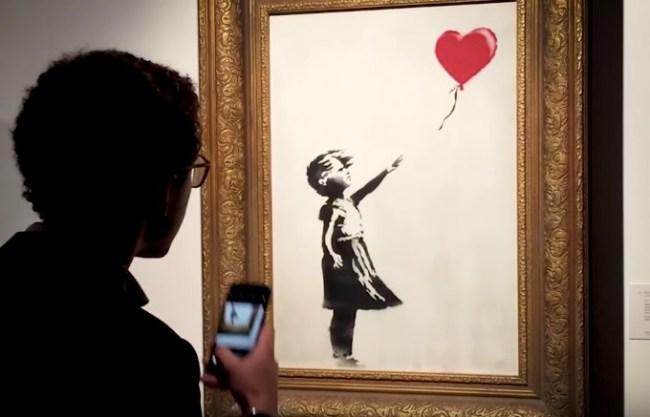 Banksy Director's Cut shredding Girl and Balloon