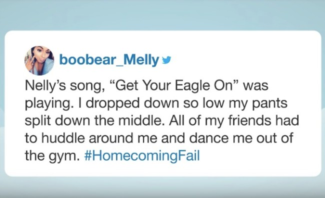 best of Homecoming Fail tweets