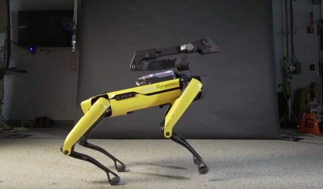boston dynamics dancing robot