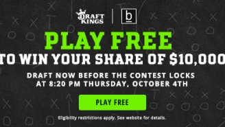 ATTN, FANTASY FANS: Play Free DraftKings Fantasy Football TONIGHT For Your Share Of $10,000