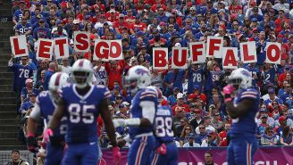A Bills Fan Made The Best Sign You'll Ever See At An NFL Game