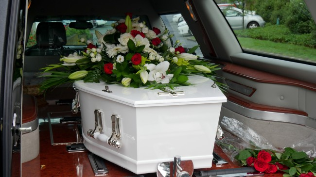 coffin hearse funeral