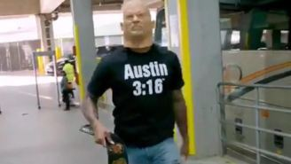 Damian Lillard Disguised As Stone Cold Steve Austin During Arena Entrance Is The Baddest S.O.B Move