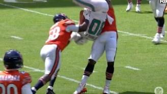 Bears' Leonard Floyd Picked Up Dolphins WR Danny Amendola And Viciously Body-Slammed Him WWE Style