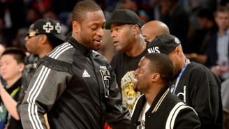 Kevin Hart Got A Little Salty After Dwyane Wade Gave Him A Toddler-Sized Miami Heat Jersey