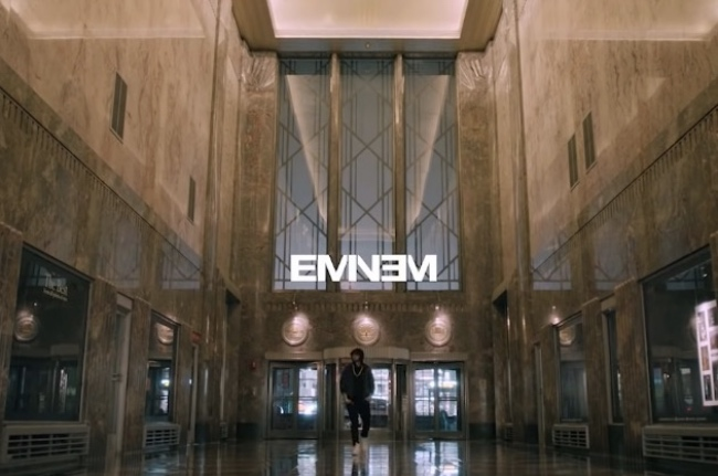 Eminem performs Venom on Empire State Building on Jimmy Kimmel Live