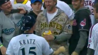 Brewers Catcher Erik Kratz's College Buddies Surprised Him In A Unique And Awesome Way During NLCS
