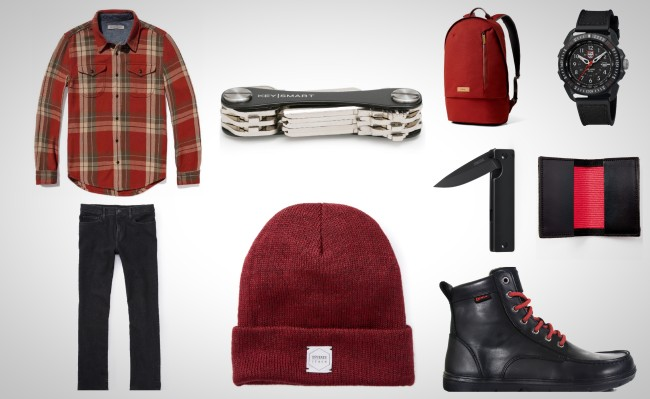 everyday carry essentials black and red