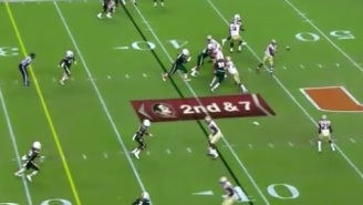 FSU Fans Are Angry After Touchdown Gets Taken Back Because Of 'Illegal Forward Pass' Call By Refs