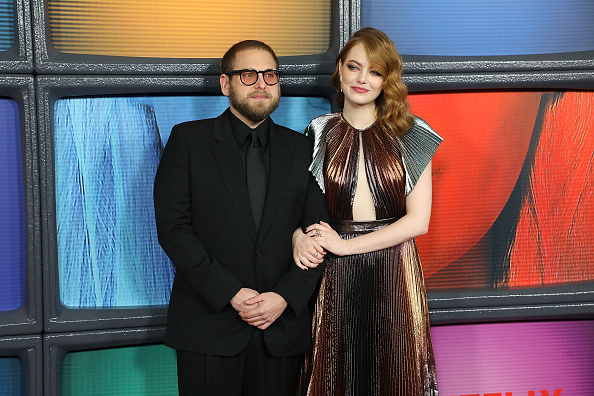 "NEW YORK, NY - SEPTEMBER 20: Jonah Hill and Emma Stone attend the Season One premiere of Netflix's ""Maniac"" at Center 415 on September 20, 2018 in New York City. (Photo by Taylor Hill/FilmMagic)"