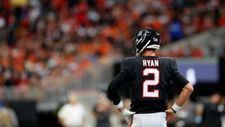 Let's See How Many Jokes We Can Make About Matt Ryan's Dad Outfit Yesterday