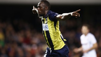 World's Fastest Man Usain Bolt Kicked Off His Pro Soccer Career In Australia Like A Total Badass