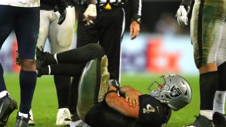 Derek Carr Responds To The Entire World Thinking He Cried On-Field After Getting Sacked In Loss