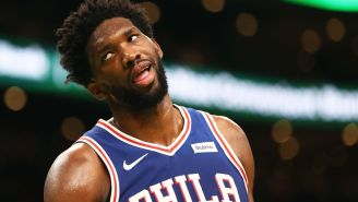 Joel Embiid Gets Fined $25k For Flipping Off Opponent During Game, Cursing During On-Court Interview