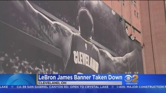 The LeBron Banner In Cleveland Has Been Replaced And, F*ck, Is It Awful