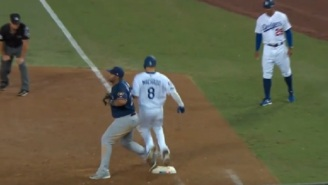 Manny Machado Gets Ripped To Shreds By The Internet For Appearing To Deliberately Kick Jesus Aguilar On First Base