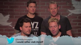 Nickelback Takes Another Punch To The Gut In The Music Edition Of Jimmy Kimmel 'Mean Tweets'