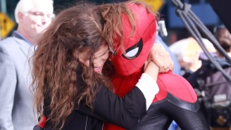 New Set Videos And Pics Of Tom Holland And Zendaya Give Us A Great Look At Spider-Man's New Suit