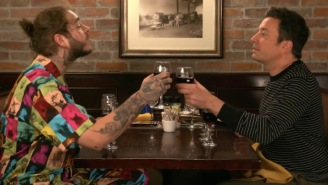 Post Malone Takes Jimmy Fallon To His First-Ever Olive Garden, Jimmy Gives Post The Best Present Of His Life