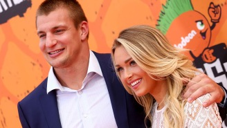 Rob Gronkowski's Reaction To His Girlfriend Being Named A SI Swimsuit Rookie Is Just So Gronk