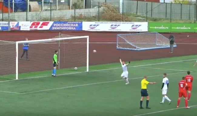 Rubin Kazan penalty kick backflip goal soccer