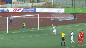 This Crazy Acrobatic Penalty Kick Is About To Blow Your Damn Mind