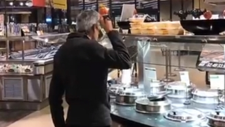 Man Sips Soup Directly From Ladle In Supermarket, Should He Be Charged With A Hate Crime?