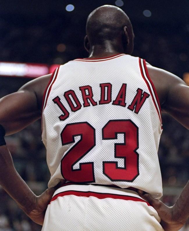 Superfan Michael Jordan Jersey Tattoo Back