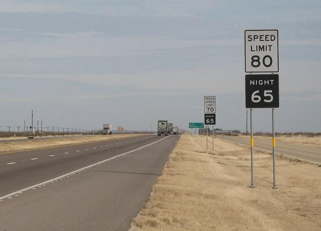 texas 80 mph