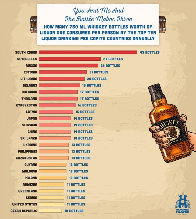 drunkest countries in the world