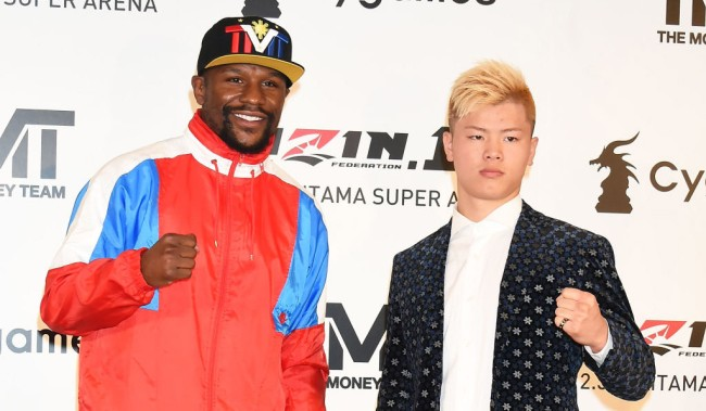 50 Cent Mocks Mayweather Backing Out Fight Kickboxer