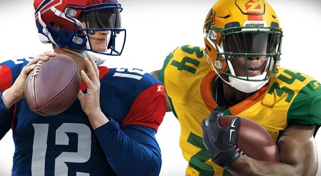 Alliance American Football QB Draft Uniforms