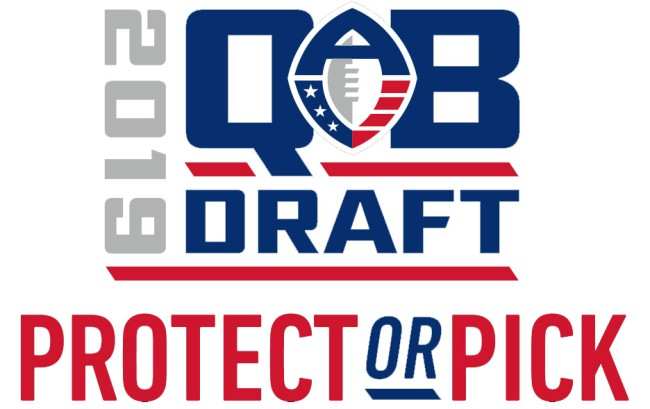 Alliance of American Football Protect or Pick quarterback draft