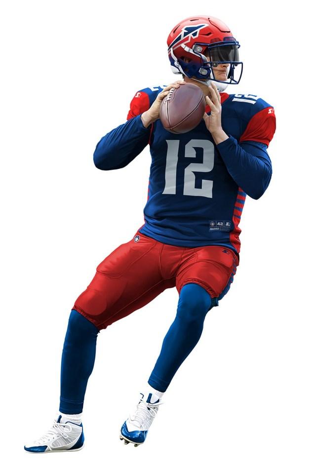 Alliance of American Football uniforms