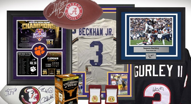 Best NCAA College Football Memorabilia Collectibles Collectors Items