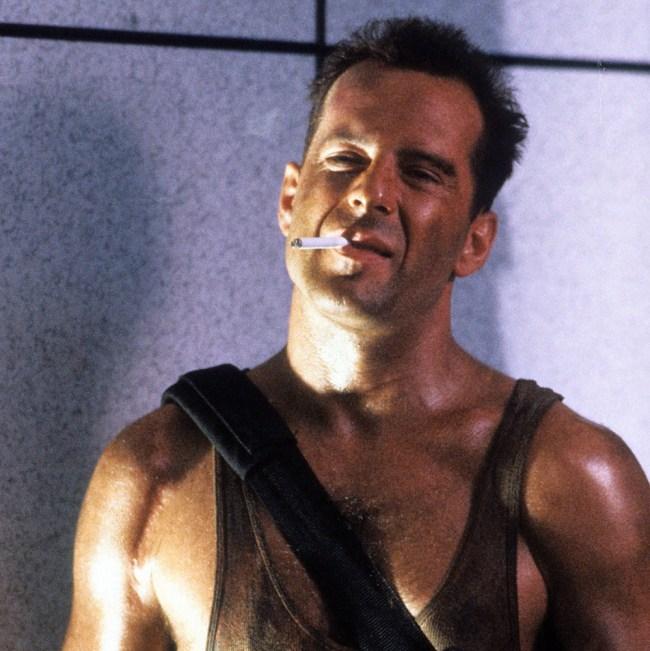 Die Hard Director Bruce Willis Roof Jump