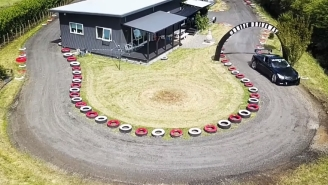 Dad Builds Drift Track Around His House, Lives His Best Life