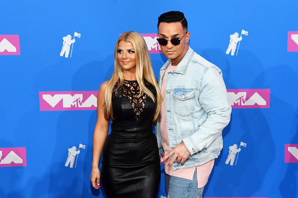 NEW YORK, NY - AUGUST 20:  Lauren Pesce and Mike ?The Situation? Sorrentino attend the 2018 MTV Video Music Awards at Radio City Music Hall on August 20, 2018 in New York City.  (Photo by Nicholas Hunt/Getty Images for MTV)