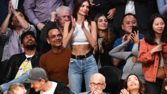 Emily Ratajkowski's Flirtatious Tweet To LeBron During The Lakers Game Brought Out The Very Best Of The Internet