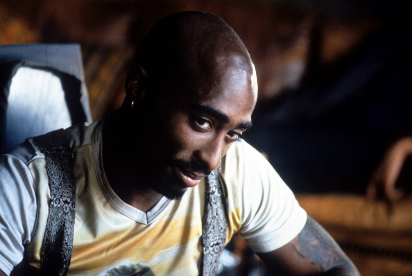 Tupac Shakur in a scene from the film 'Gridlock'd', 1997. (Photo by Gramercy Pictures/Getty Images)