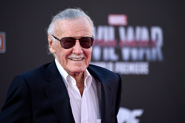 """LOS ANGELES, CALIFORNIA - APRIL 12: Stan Lee attends the premiere of Marvel's """"Captain America: Civil War"""" at Dolby Theatre on April 12, 2016 in Los Angeles, California. (Photo by Frazer Harrison/Getty Images)"""