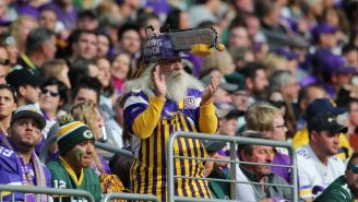 Old Ass Vikings Fan Puts Packers Fan In Chokehold In One Of The Most Bizarre Stadium Fights You'll See