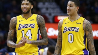 Kyle Kuzma's Girlfriend Trolls Brandon Ingram's Side Chick And One-Ups Her By Showing Off That She Has Better Seats To Games