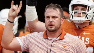 Tom Herman Is So Classy That He Decided To Give The Double Bird To Longhorn Network Cameras During The Early Signing Period