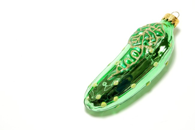 Christmas pickle ornament