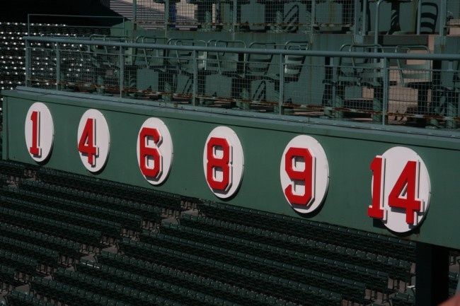 Boston Red Sox retired Jersey Numbers