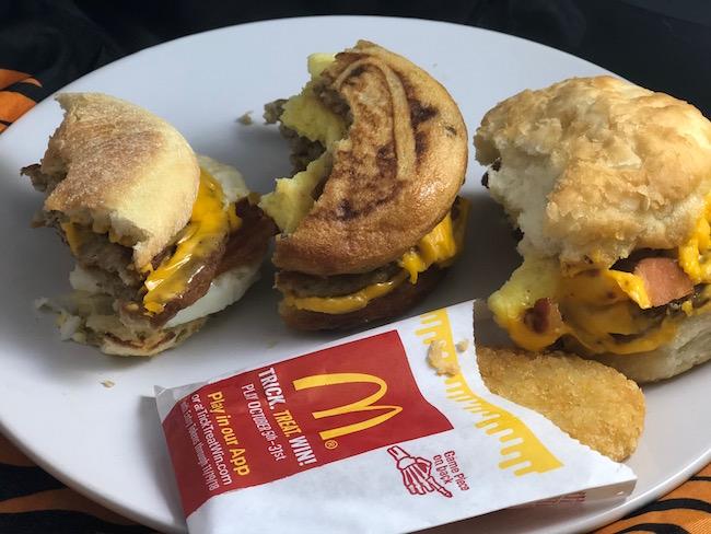 mcdonalds triple breakfast stack challenge